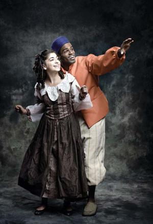 "Sirena Abalian stars as Sara Crewe and Jared Dixon as Pasko in Fiddlehead Theatre Company's production of ""A Little Princess"" at the Strand Theatre, Nov. 21-Dec. 8."