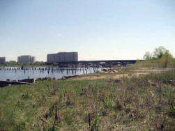 The 14-acre waterfront parcel in Port Norfolk, once home to the Shaffer Paper company, will be transformed into a public park under a plan outlined at a Tuesday night meeting. 	Reporter file photo