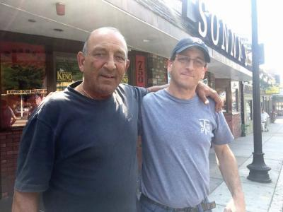 Family Business: Richard Elia, left, and his son Matthew are shown outside Sonny's in Adams Village Tuesday afternoon. Bill Forry photo