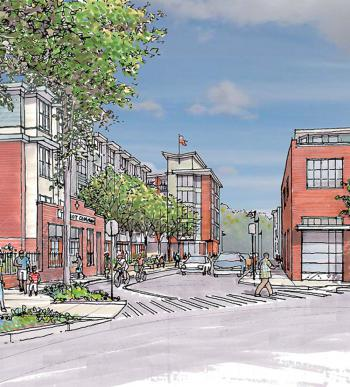 Construction will begin on the first phase of Talbot Commons, a transit-oriented, residential development on New England Avenue, later this year. Image courtesy BRA