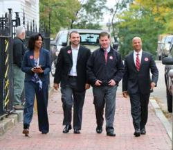 Team of Rivals: Richie, Arroyo, Walsh and Barros. Photo courtesy Walsh campaign