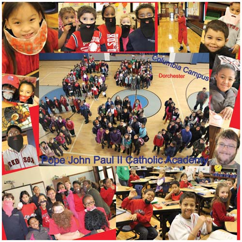 WORLD SERIES ELECTRIFIES THE CITY— As the Boston Red Sox set off for St. Louis and — hopefully— another World Series trophy last week, the students and faculty at Pope John Paul II Catholic Academy's Columbia Campus banded together to show off their Boston pride.   The school kids were encouraged came to school wearing their fake beards last Friday— a hat tip to the hometown squad who turned this baseball season into one for the ages here in Boston.</p /> </span> <span class=