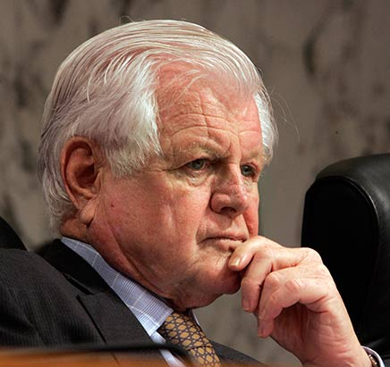 U.S. Senator Edward Moore Kennedy, (1932-2009)  -  Photo (May 2008) by Susan Walsh, Associated Press