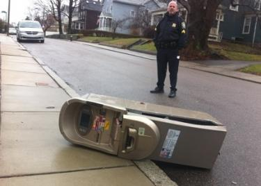 ATM dumped curbside on Richmond Street