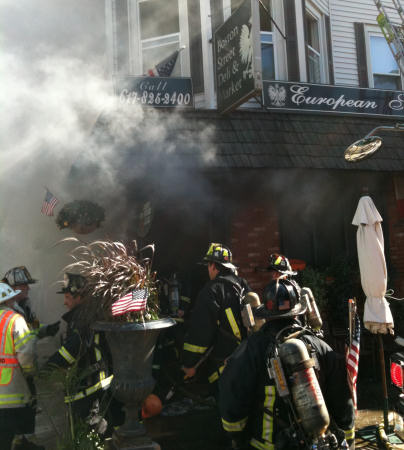 Fire on Boston Street: Photo by Boston Fire Department