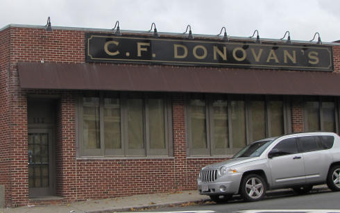 C.F. Donovan's: Shuttered today