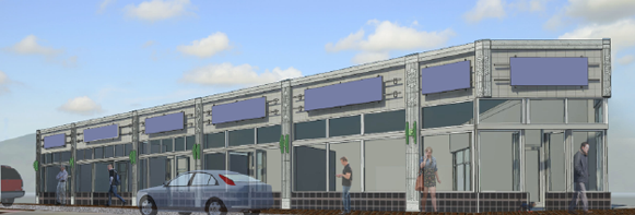 Emerald Isle block re-imagined: A rendering of the completed building.