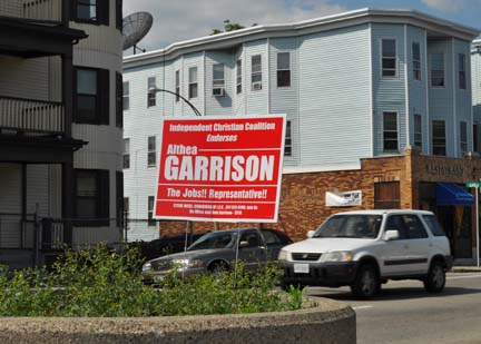 Garrison sign: As seen on Columbia Rd., May 25, 2010.