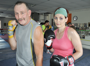 John and Maureen O'Brien: Father and daughter both train at Grealish's gym. Photo by Bill Forry
