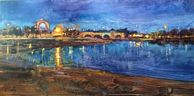 "Vincent Crotty's ""Gas Tank at Twilight"""