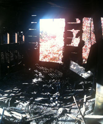 Kitchen remains: Photo by Boston Fire Department