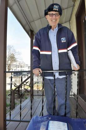 Herb Berman: At 85, still on the job in Adams Corner. Photo by Ed Forry