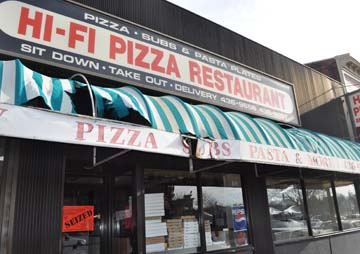 Hi-Fi Pizza seized, shut down in afternoon raid. Photo by Bill Forry