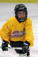 ProEvolution Hockey: Dorchester's Dylan McDonough, 8, takes the ice.