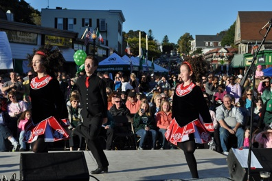 Irish dancers: Irish step dancers performed on the south stage. Ed Forry photo