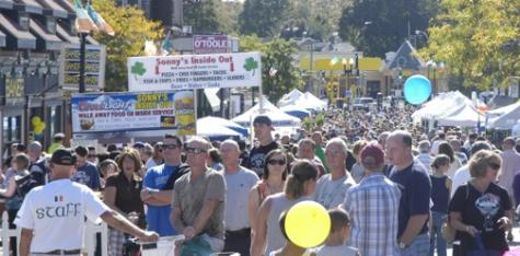 Irish Heritage Festival in Adams Village 2011: The scene on Adams Street on Sunday afternoon.