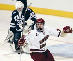 Jimmy Hayes: Stands out for BC's national champs (AP photo)
