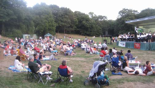 Classic park, classical music: The Boston Landmarks Orchestra returns to Dorchester Park for a free concert on Sunday, Aug. 9.