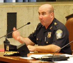 Boston Police Superintendent-in-Chief Daniel Linskey: Testified during Wednesday's City Council hearing. Photo by Callum Borchers