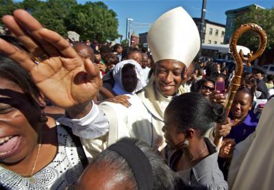 Boston haitians greet their new cardinal just like a rock star cardinal chibly langlois in boston the scene outside mission church on sunday photo by m4hsunfo