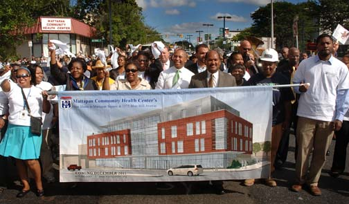 Sept. 10, 2010 parade celebrates new health center plans