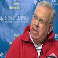 Mayor Tom Menino at Spaulding Rehab Hospital: Image courtesy WCVB-TV