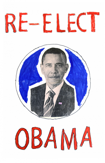 Re-Elect Obama: Poster by Najmo Adu