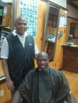 Chad Ochocinco and Serge Pierre at Unique Cuts