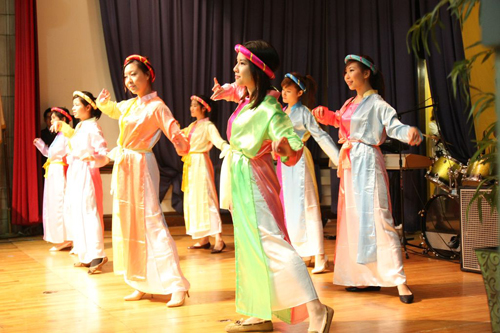 Tet in Boston: Traditional Vietnamese dancing is a big part of Saturday's Tet in Boston celebration at the Harbor School in Fields Corner. 	Photo courtesy TIB