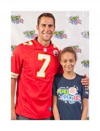 Jessica Miranda poses with Kansas City Chiefs QB Matt Cassel during her recent trip to Washington D.C. as a Fuel Up to Play 60 Student Ambassador. Photo courtesy of Stephanie Ferrari