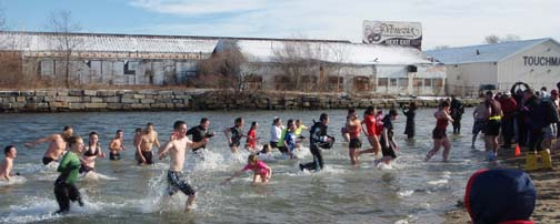 Polar Plunge 2013: The scene at Tenean Beach on Jan. 1, 2013. Photo by Jackie Gentile