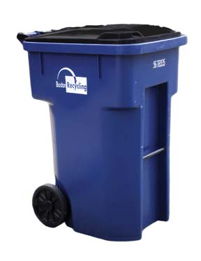 Single Stream Recycling Carts