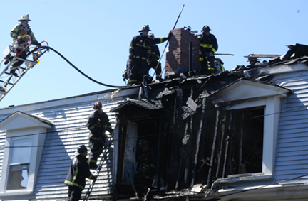 Romsey Street house fire: Photo by Bill Forry