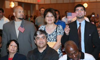 Naturalization ceremony at JFK Library