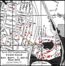 Savin Hill Map