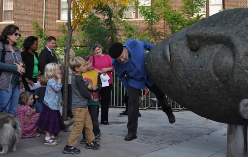 'Sleeping Moon' unveiled to large crowd in Peabody Square