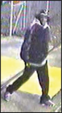 Suspect #2 in trolley attack: Captured on surveillance video at Butler Street station on Monday. MBTA Police image
