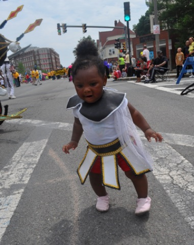 Tiny dancer: Parade participants came in all ages and sizes during the 2010 Dorchester Day Parade. Photo by Ed Forry