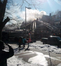 Washington Street fire: Photo by Judy Tuttle