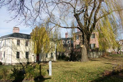 Dorchester Historical Society homes: The Lemuel Clap and William Clapp properties on Boston Street. Image courtesy DHS