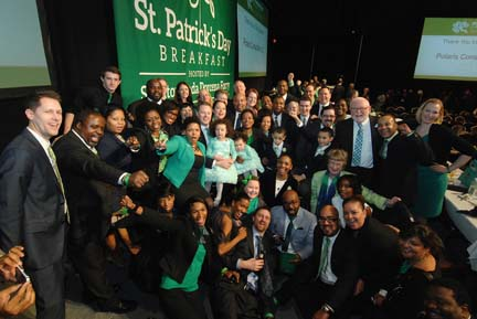 Forry-Dorcena families at St. Patrick's Day Breakfast: The group gathered for a photo after the event. Photo © Don West