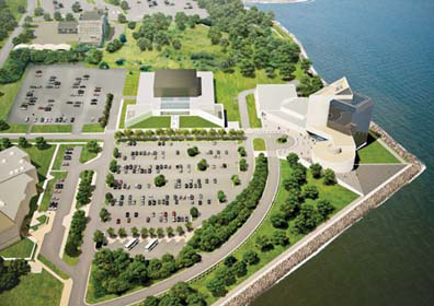 Edward M. Kennedy Institute for the US Senate aerial view