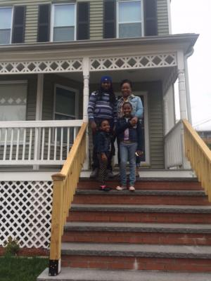 Philly, Derick, Dianna and Chloe at their home on Longfellow Street.