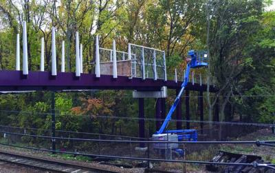 Bridge under construction on Neponset Greenway in Mattapan