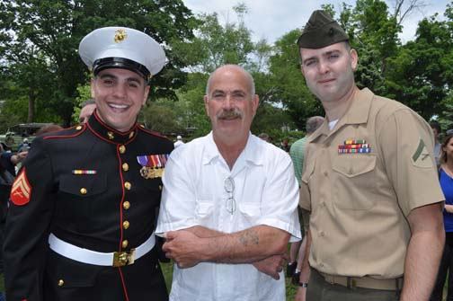 Memorial Day 2014: Robert Flynn, USMC Corporal (Ret.), Steve Bickerton and Michael Ball, Lance Corporal USMC (Ret.)