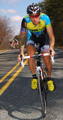 Adam Myerson: Professional cyclist and coach lives and loves Dot and the Red Line. Photo by Jon Safka/Cyclingphotos.ca