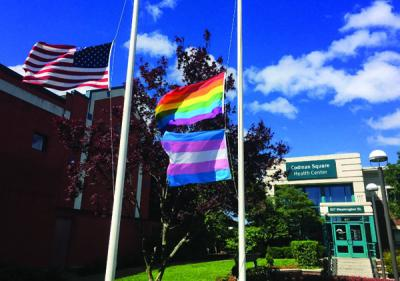 Orlando massacre aftermath: Flags flew at half-mast this week outside the Codman Square Health Center.