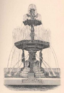 A dormant city-owned fountain at the intersection of Bowdoin Street and Adams Street- known as Eaton Square or Coppens Square- replaced an earlier, far more ornate fountain that was erected and names in honor of Mayor Theodore Lyman, Jr.