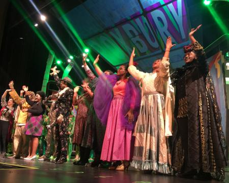 The Wiz: The Boston Arts Academy cast takes a bow after their final performance at the Strand. Bill Forry photo