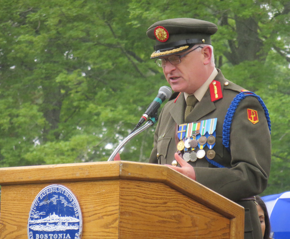 Irish Brigadier General Peter O'Halloran: Ed Forry photo